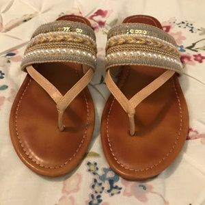 Jessica Simpson Embellished Thong Sandals